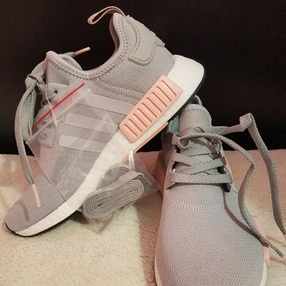 e73da95301bfe0 Adidas NMD R1 W Grey and Pink